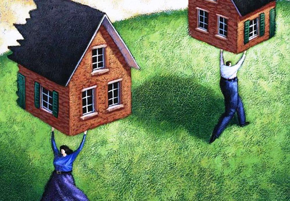 как разделить квартиру при разводе